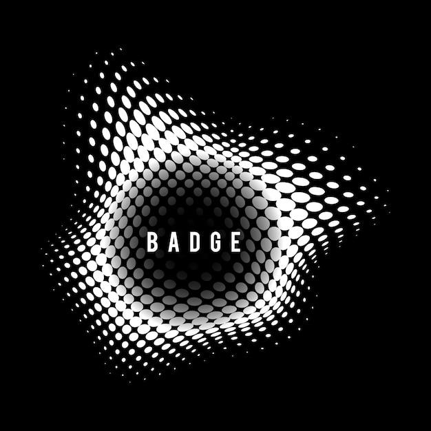 Badge demi-teinte vintage noir et blanc Vecteur gratuit