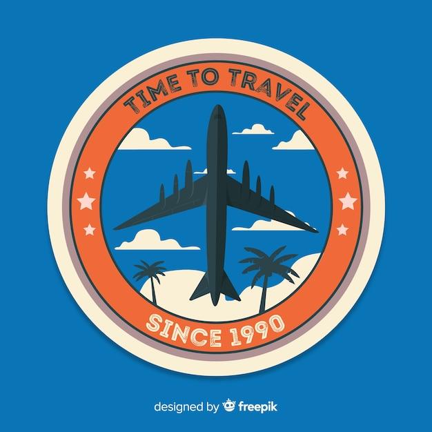 Badge étiquette de voyage vintage Vecteur gratuit