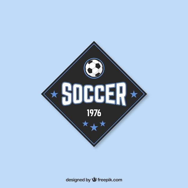 Badge De Football Dans Le Style Vintage Vecteur Premium
