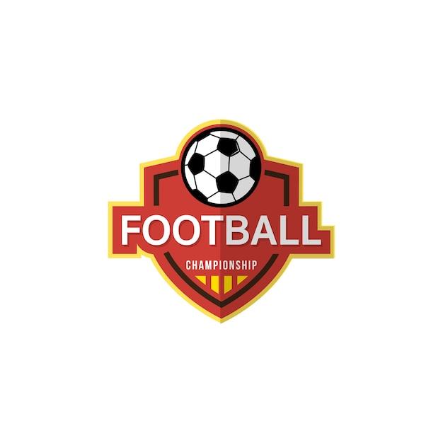 Badge De Football, Illustration Vectorielle Vecteur Premium