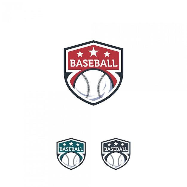 Badge de logo de baseball Vecteur Premium