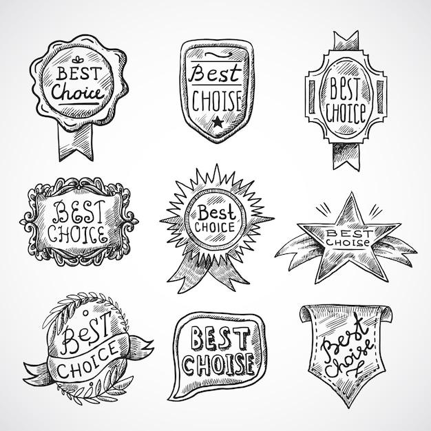 Badge meilleur choix Vecteur gratuit