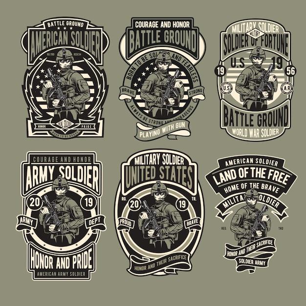 Badge militaire Vecteur Premium