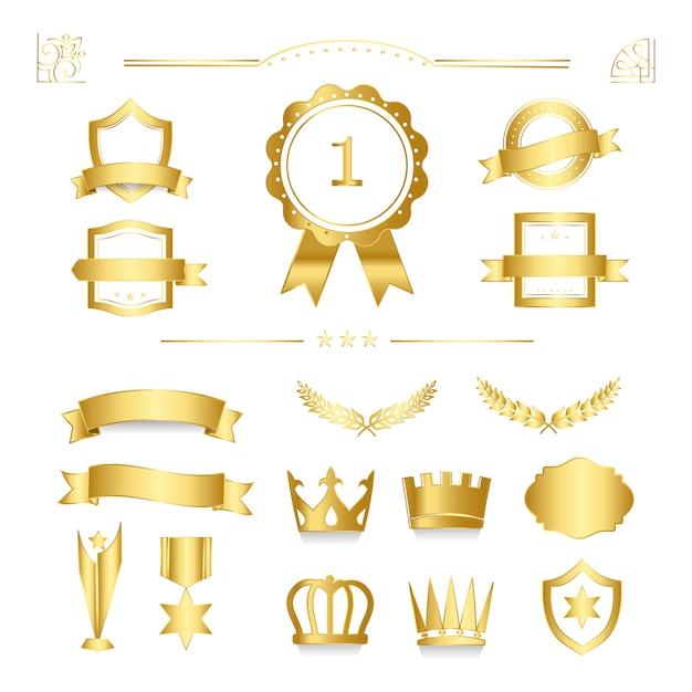 Badge de qualité premium et vecteurs de collection de bannière Vecteur gratuit