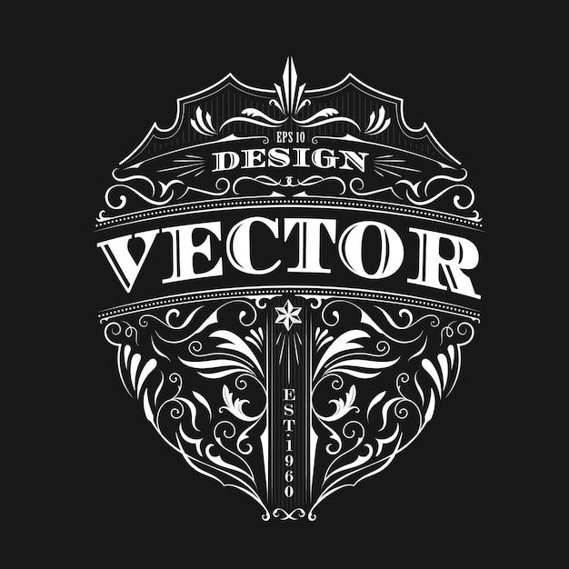 Badge Vintage Vecteur De Conception De Typographie Antique Vecteur Premium
