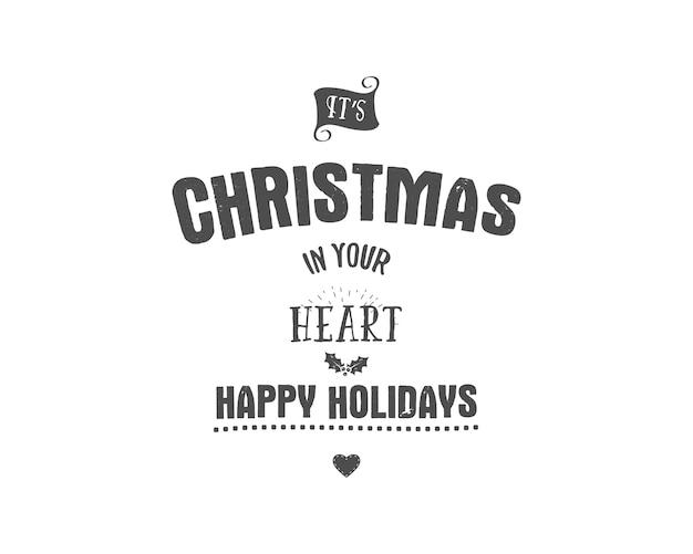 Badge De Voeux De Noël Vecteur Premium