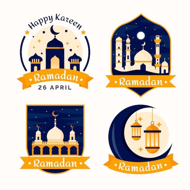 Badges Avec Concept Ramadan Vecteur gratuit