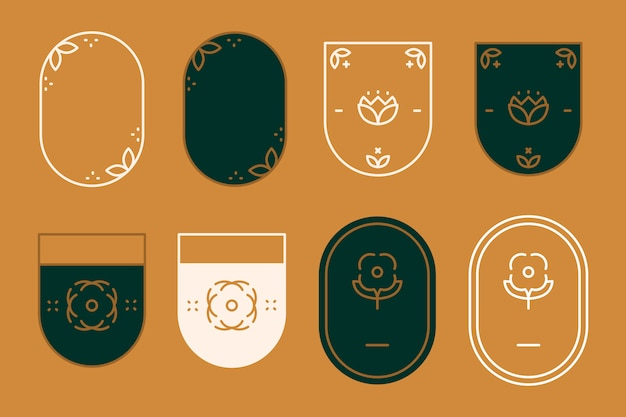 Badges modernes Vecteur gratuit