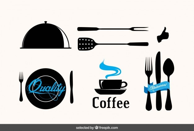 Badges Sur Les Restaurants Vecteur gratuit