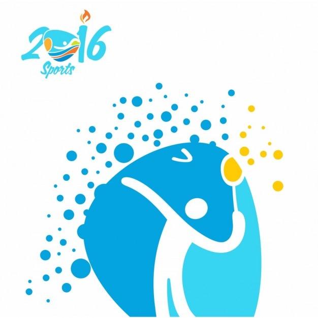 Badminton jeux olympiques rio icon Vecteur gratuit