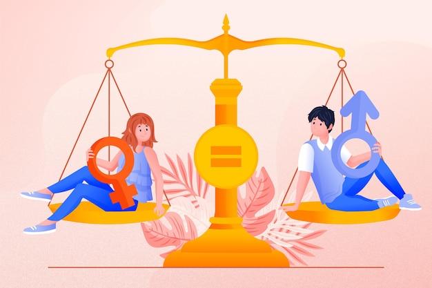 Balance Et Concept D'égalité Des Sexes Vecteur gratuit