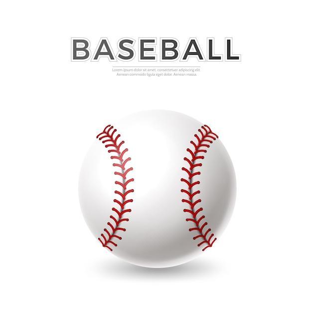 Balle De Baseball Réaliste De Vecteur Vecteur Premium