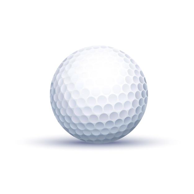 Balle de golf classique Vecteur Premium