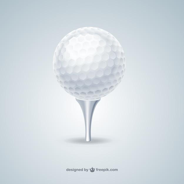 Balle de golf Vecteur gratuit