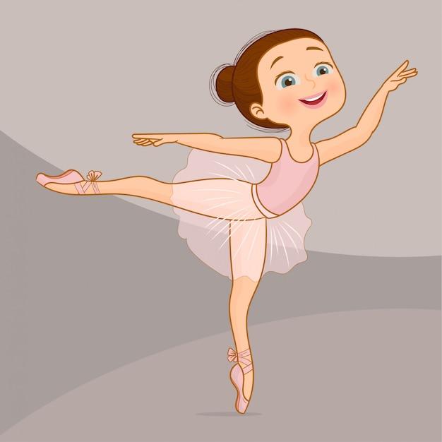 Ballerine pose et danse Vecteur Premium