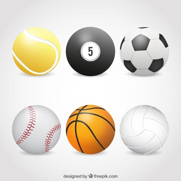 Balles de sport Vecteur gratuit