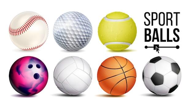 Balles de sport Vecteur Premium
