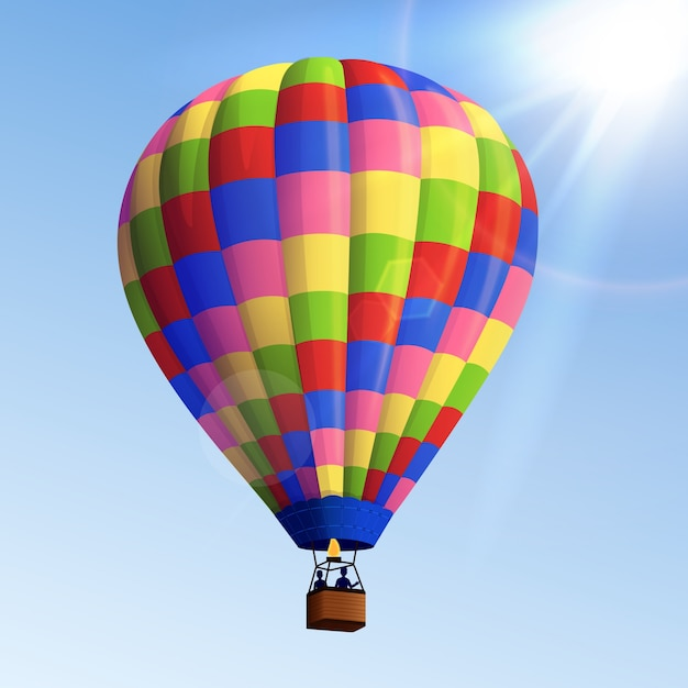 Ballon à air réaliste Vecteur gratuit