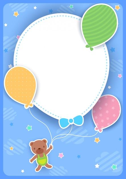 Ballon ballon vertical Vecteur Premium