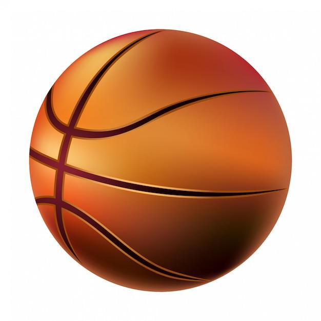 Ballon de basket Vecteur Premium