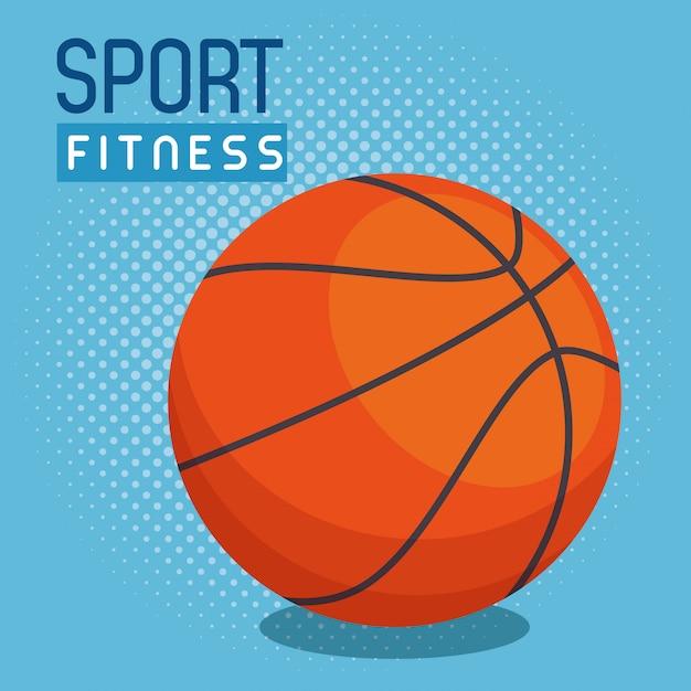 Ballon de basket Vecteur gratuit