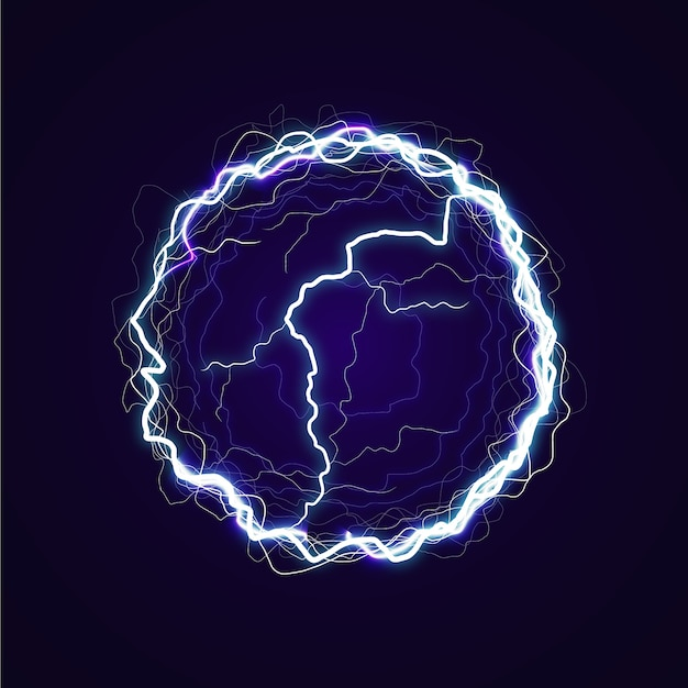 Ballon électrique avec effet de lumière Vecteur gratuit
