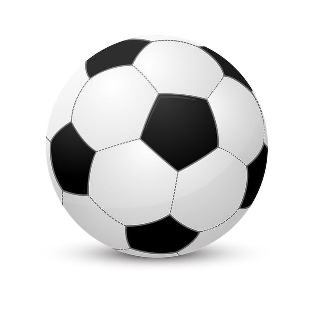 Ballon De Football. Isolé Sur Blanc Vecteur Premium