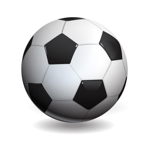 Ballon de football isolé sur blanc Vecteur Premium