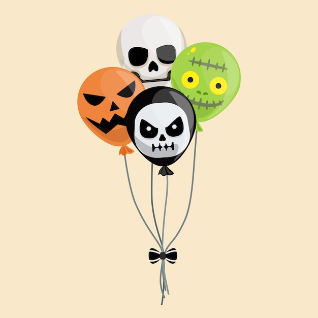 Ballon d'halloween Vecteur Premium