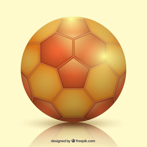 Ballon de handball dans un style réaliste Vecteur gratuit