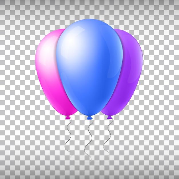 Ballon de vol de vecteur de concept créatif abstrait avec ruban. pour les applications web et mobiles isolées sur le fond, conception de modèle art illustration, icône de médias sociaux et infographie entreprise Vecteur Premium