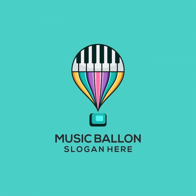 Ballonnet de musique Vecteur Premium