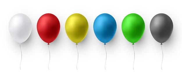 Ballons Brillants Réalistes Vecteur Premium
