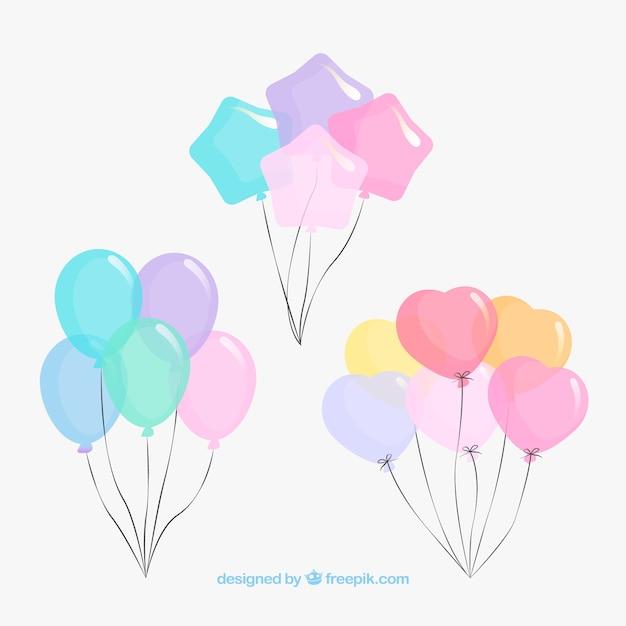 Ballons Décoratifs Mignons Et Colorés Vecteur gratuit