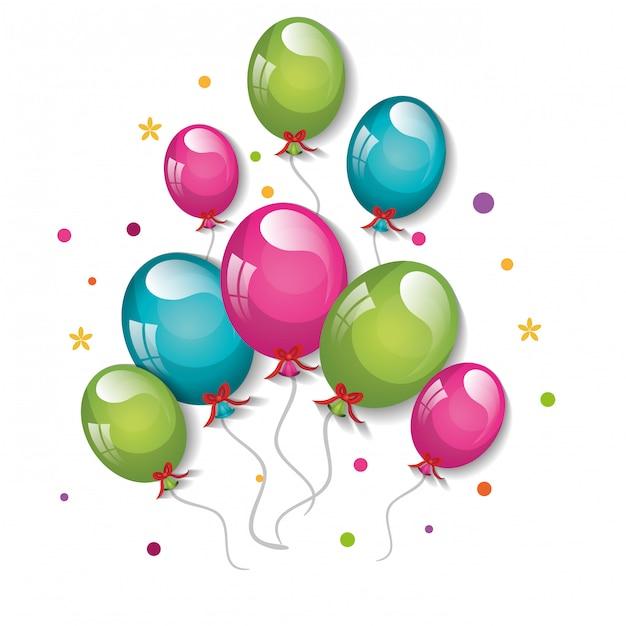 Ballons de fête design Vecteur Premium