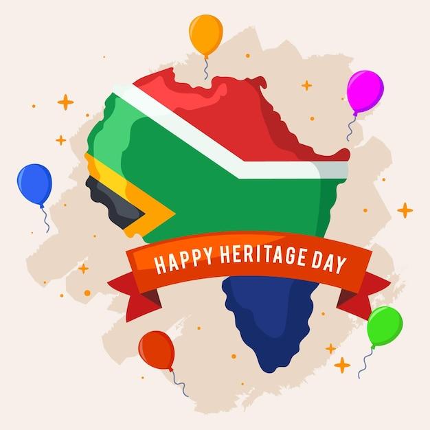 Ballons De La Fête Du Patrimoine Et Afrique Du Sud Vecteur gratuit