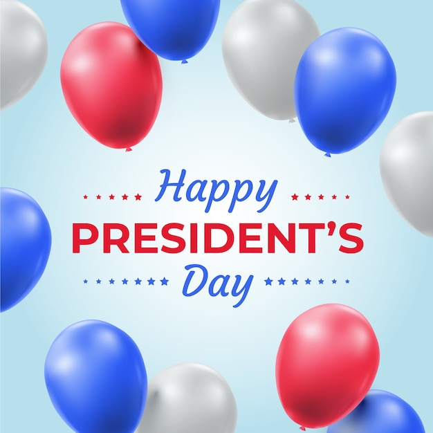 Ballons Réalistes Pour La Journée Des Présidents Vecteur gratuit