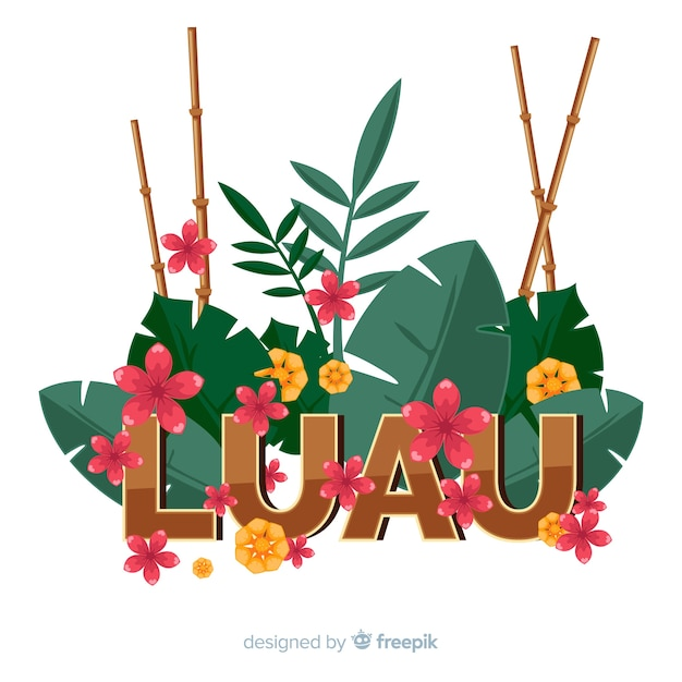 Bambou, cannes, luau, fond Vecteur gratuit