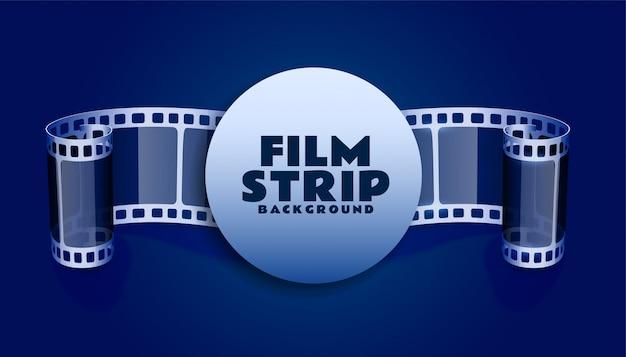 Bande De Bobine De Film En Arrière-plan De Couleur Bleue Vecteur gratuit