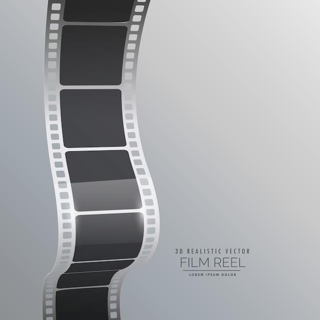 Bande bobine de film vecteur de fond Vecteur gratuit