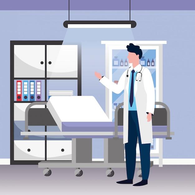 Bande dessinée médicale de soins de santé Vecteur Premium
