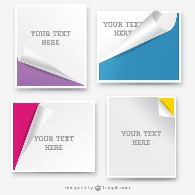 Banderoles en papier enroulées conception de la page Vecteur gratuit
