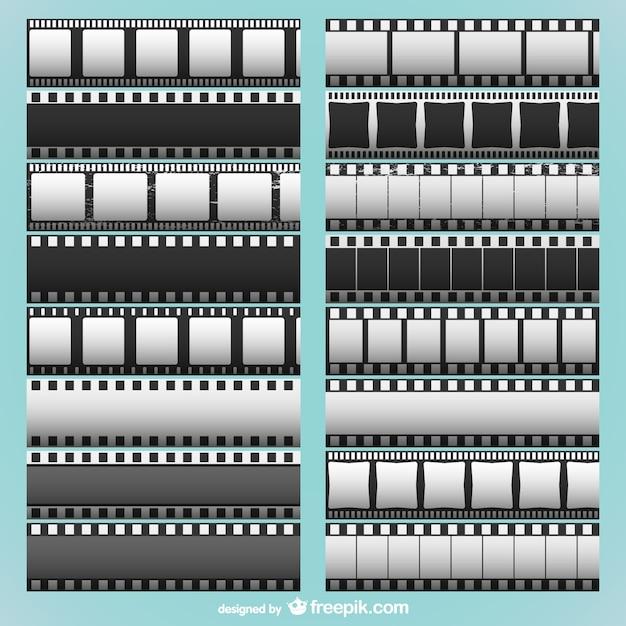 Bandes de film collection Vecteur gratuit