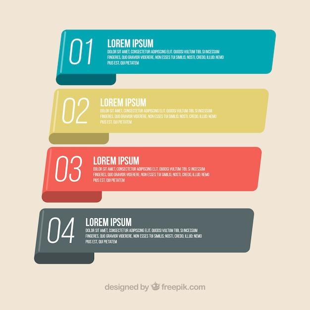 Bandes d'infographie avec design classique Vecteur gratuit