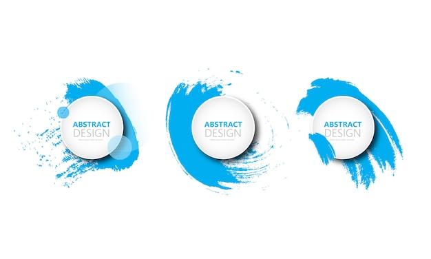 Bannière abstraite de cercle Vecteur Premium