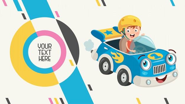 Bannière abstraite colorée pour l'éducation des enfants Vecteur Premium