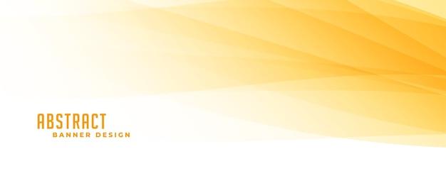 Bannière Abstraite Jaune Et Blanche Vecteur gratuit