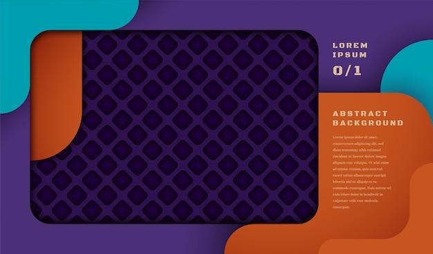 Bannière abstraite avec motif géométrique en style de découpe. Vecteur Premium