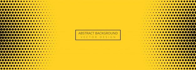 Bannière Abstraite Motif Pointillé Orange Et Noir Vecteur gratuit