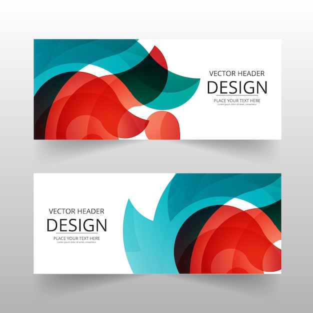 Bannière Abstraite Multicolore Vecteur gratuit